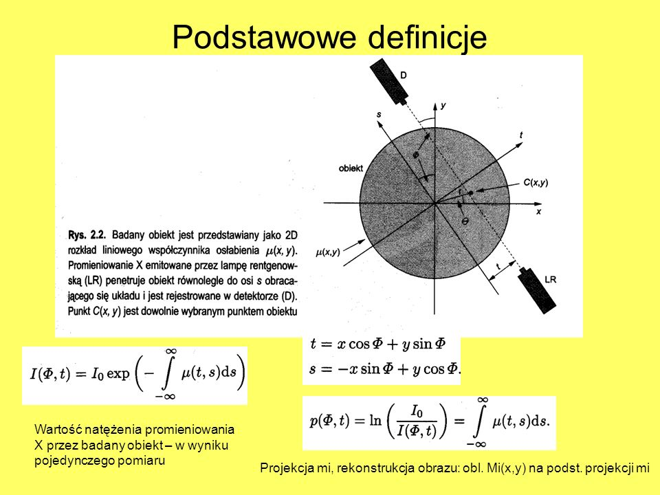 Podstawowe definicje Wartość natężenia promieniowania X przez badany obiekt – w wyniku pojedynczego pomiaru.