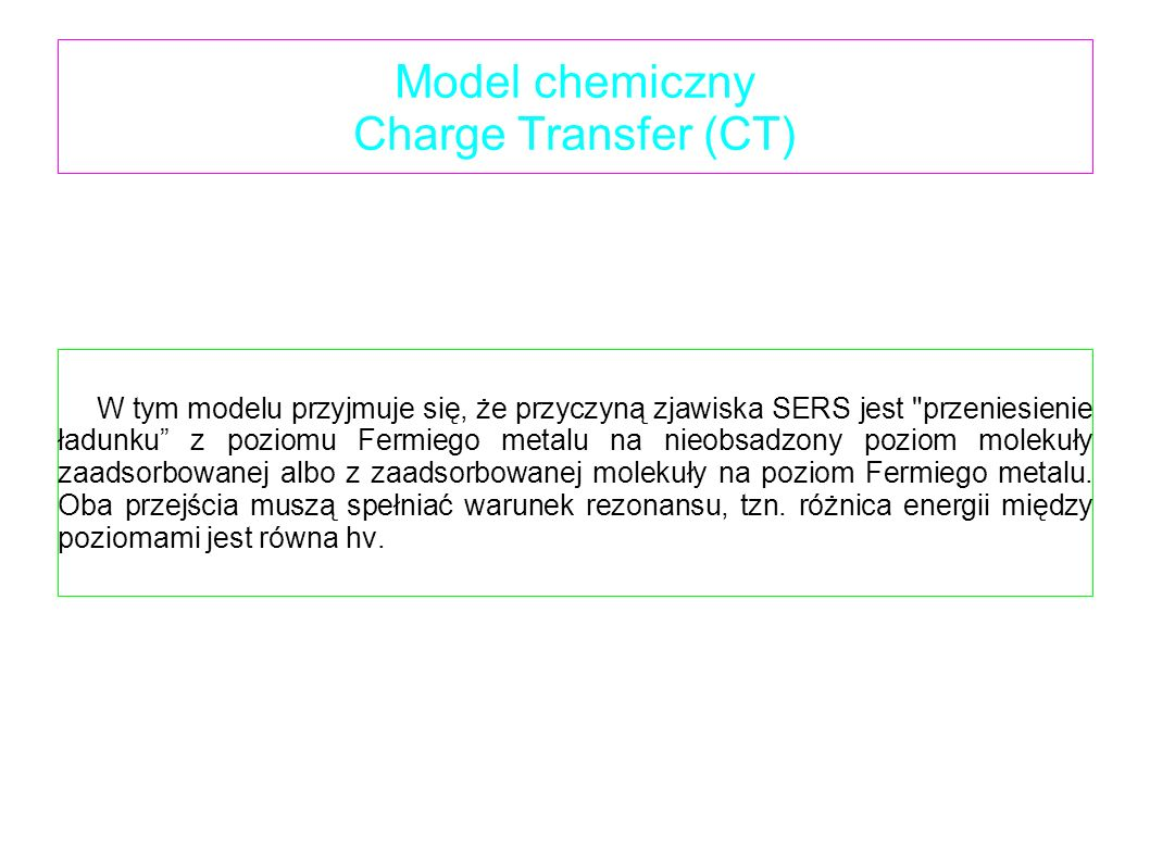 Model chemiczny Charge Transfer (CT)