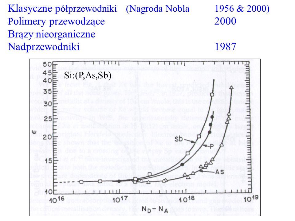 Klasyczne półprzewodniki (Nagroda Nobla 1956 & 2000)