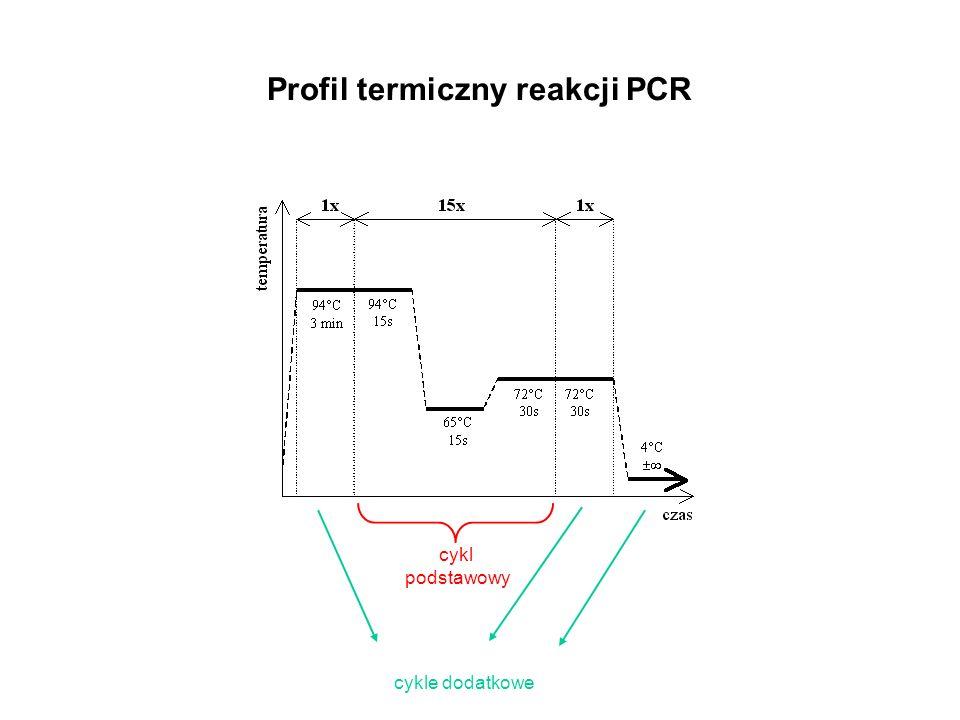 Profil termiczny reakcji PCR