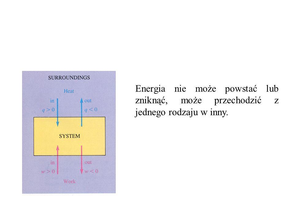 Energia nie może powstać lub zniknąć, może przechodzić z jednego rodzaju w inny.