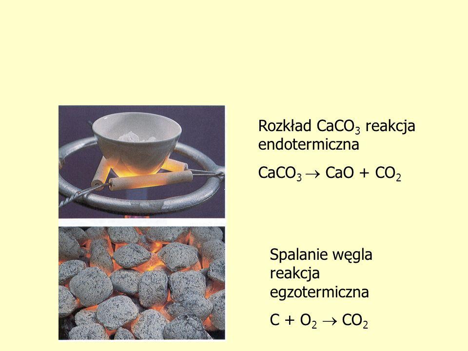 Rozkład CaCO3 reakcja endotermiczna