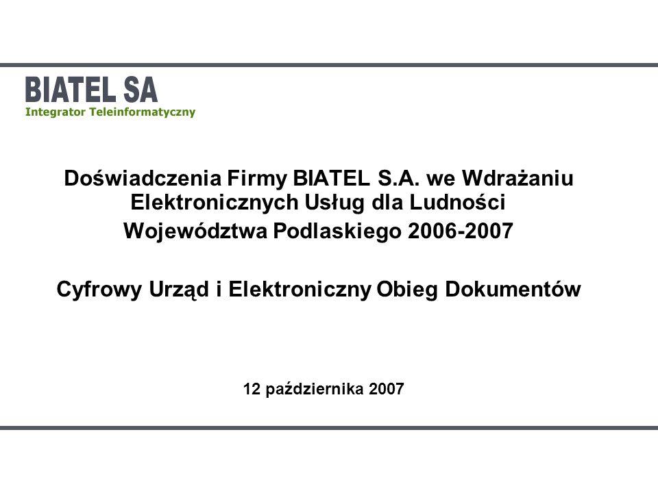 Województwa Podlaskiego 2006-2007