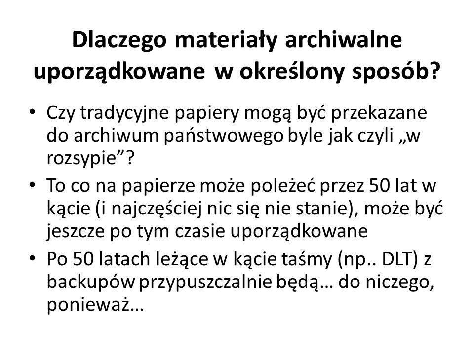 Dlaczego materiały archiwalne uporządkowane w określony sposób
