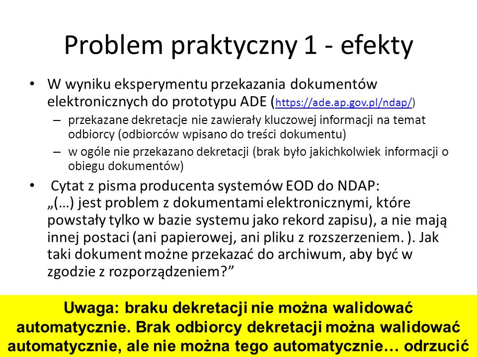 Problem praktyczny 1 - efekty