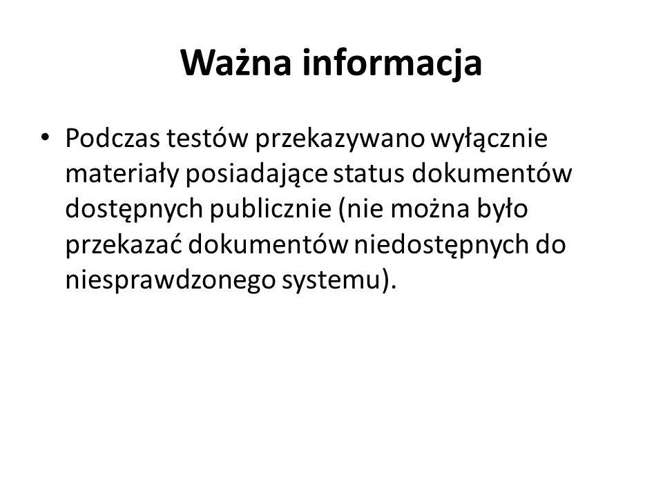 Ważna informacja