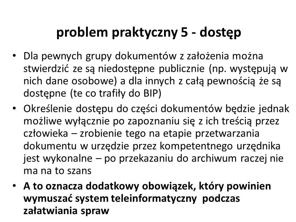 problem praktyczny 5 - dostęp