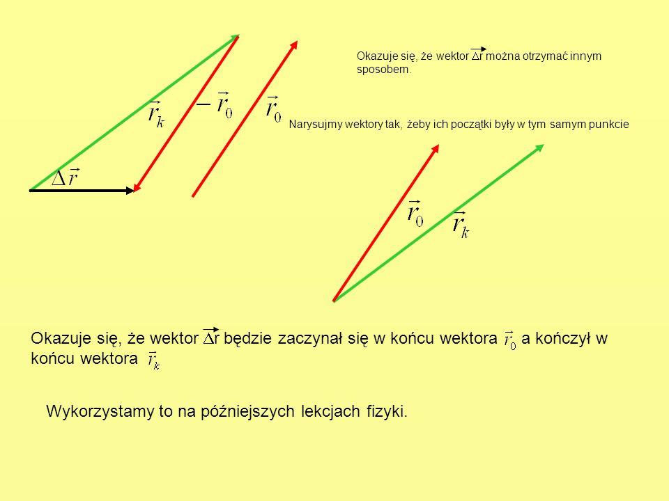 Wykorzystamy to na późniejszych lekcjach fizyki.