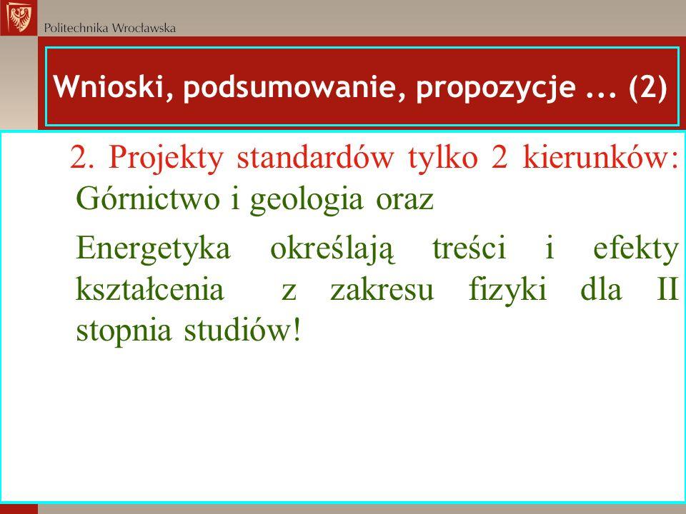 Wnioski, podsumowanie, propozycje ... (2)