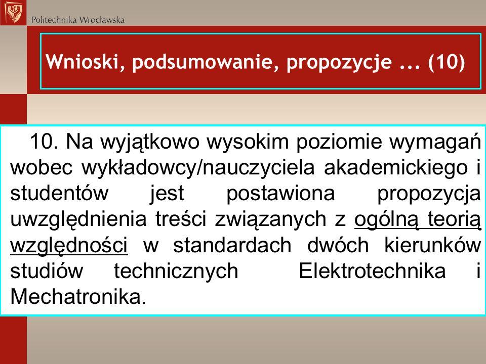 Wnioski, podsumowanie, propozycje ... (10)