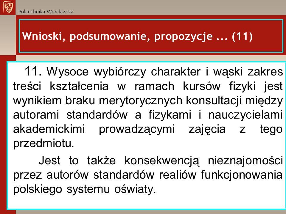 Wnioski, podsumowanie, propozycje ... (11)