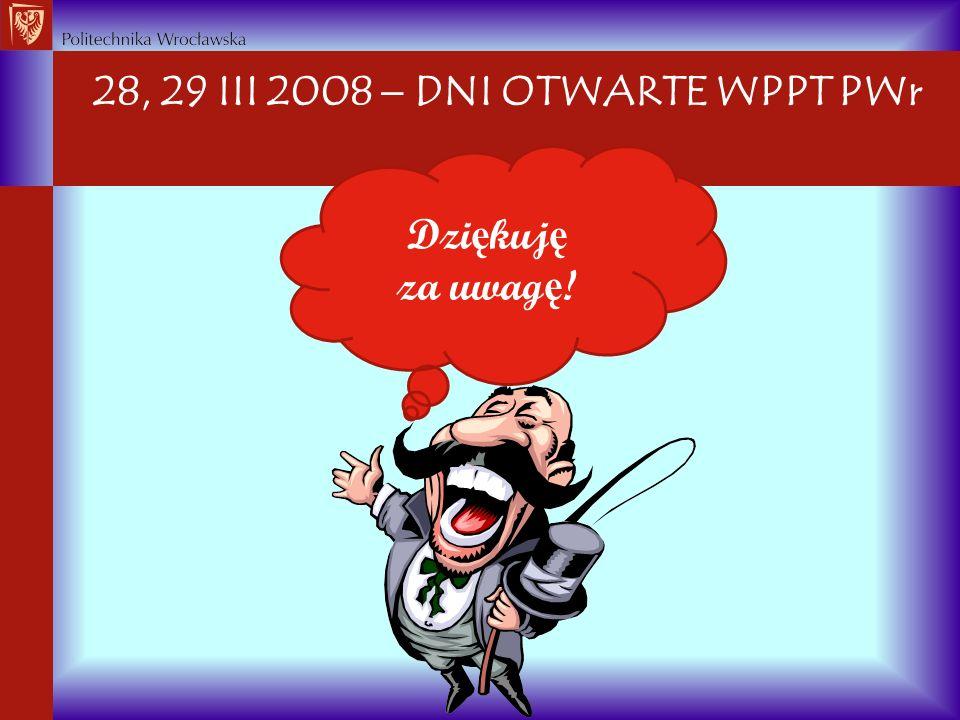 28, 29 III 2008  DNI OTWARTE WPPT PWr