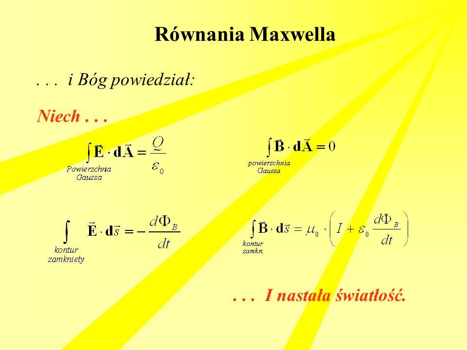 Równania Maxwella . . . i Bóg powiedział: Niech . . .