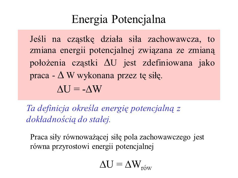 Energia Potencjalna U = -W U = Wrów