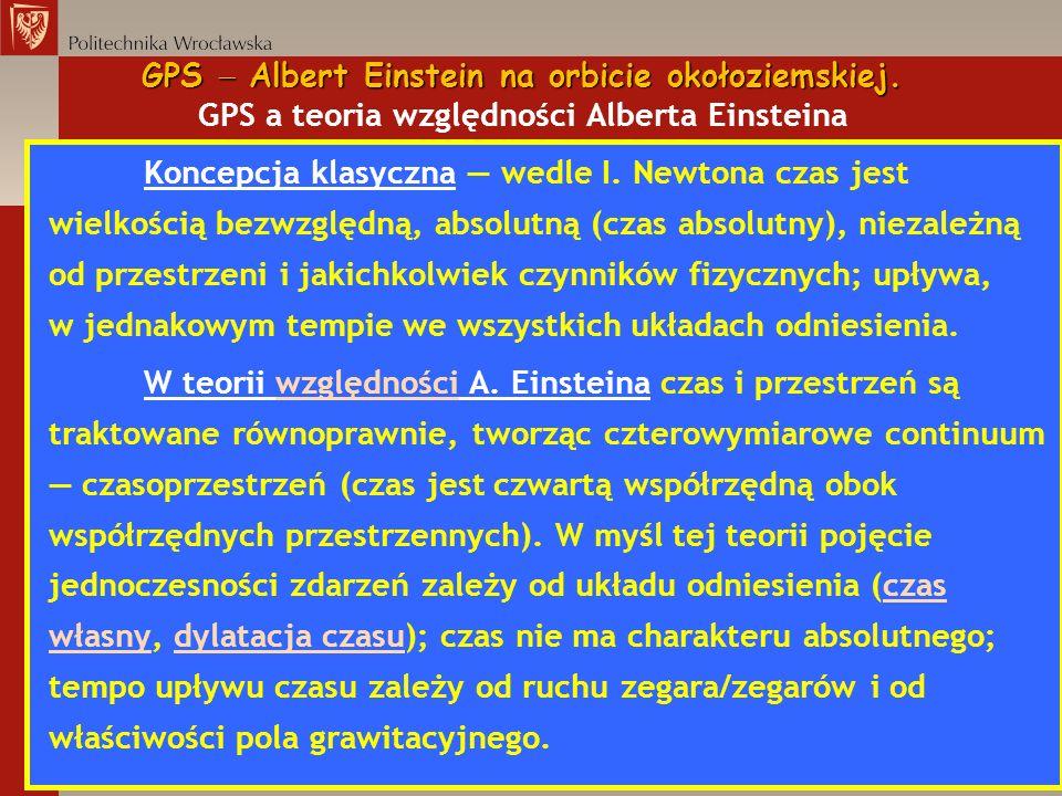 GPS  Albert Einstein na orbicie okołoziemskiej