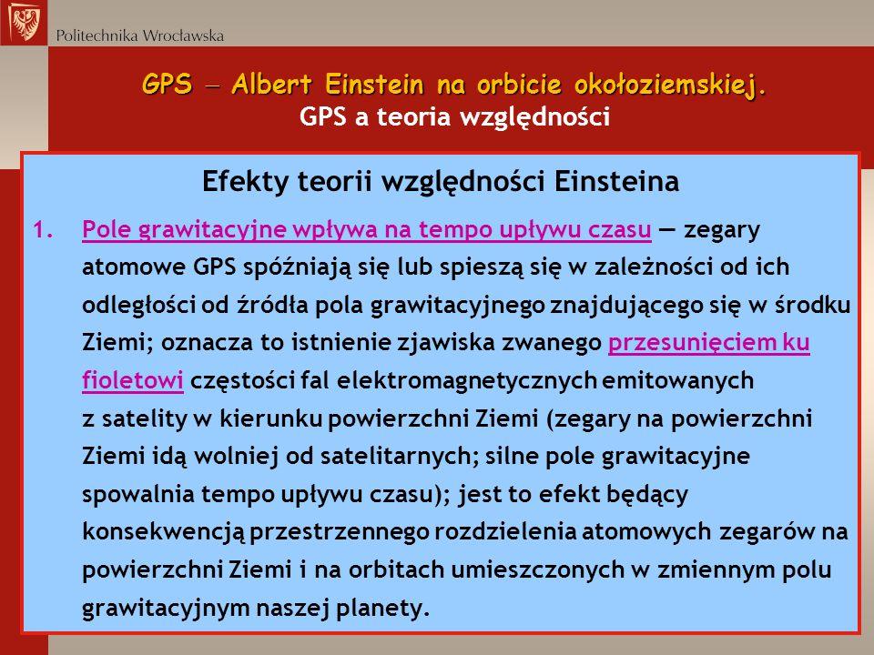 Efekty teorii względności Einsteina