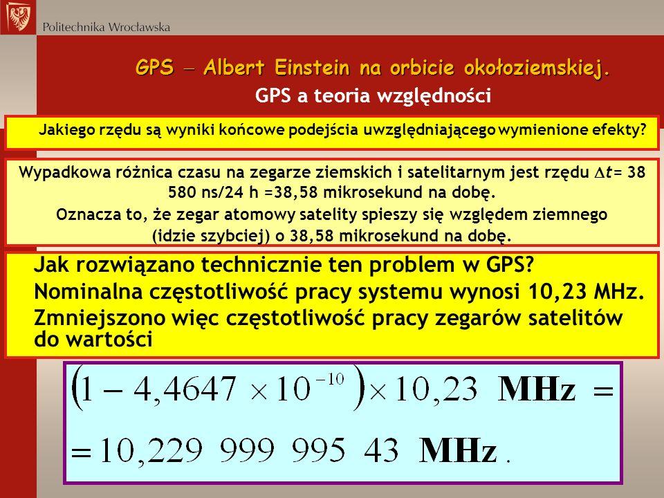 Jak rozwiązano technicznie ten problem w GPS