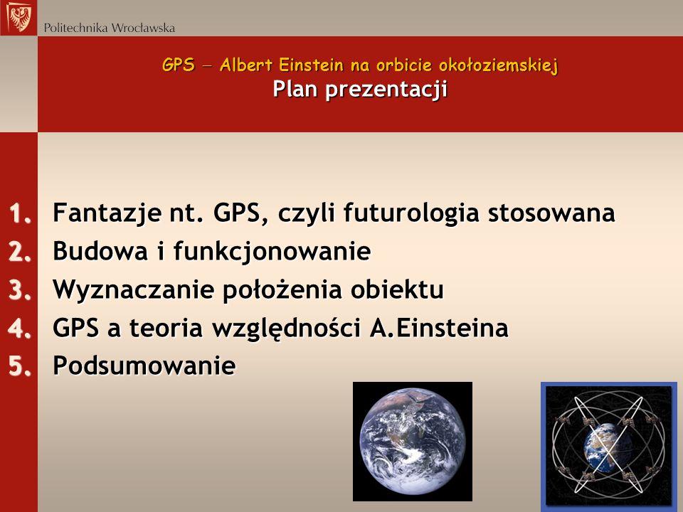 GPS  Albert Einstein na orbicie okołoziemskiej Plan prezentacji