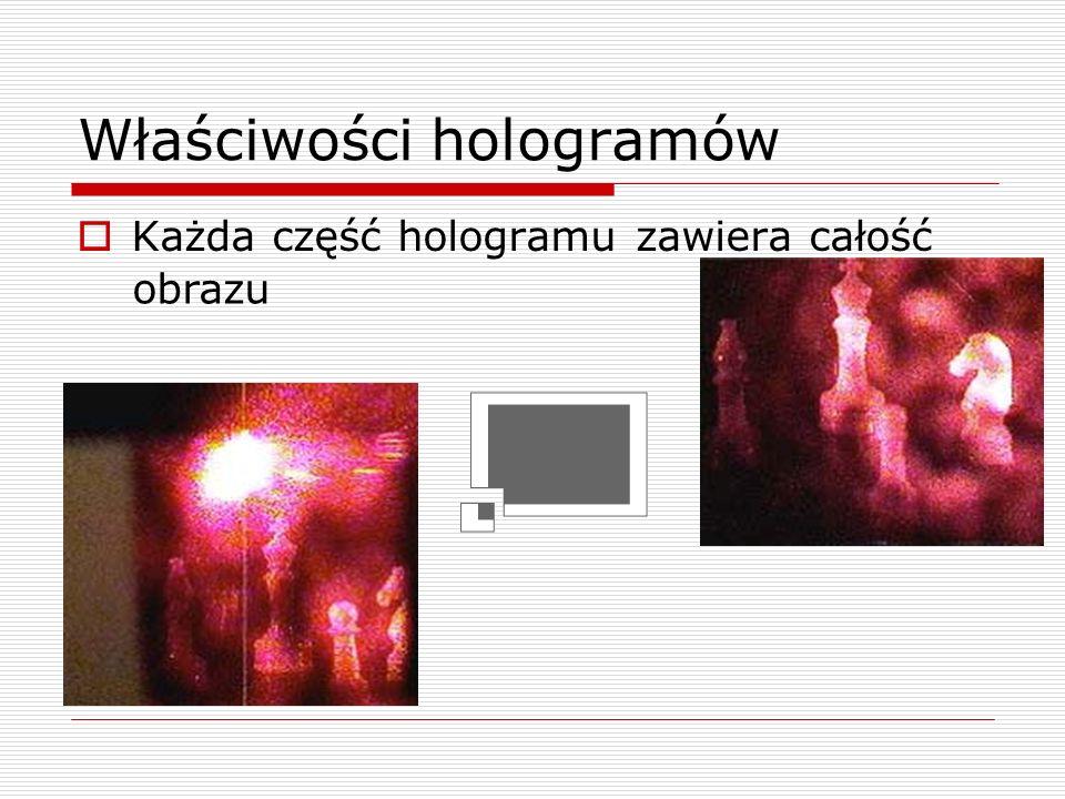 Właściwości hologramów