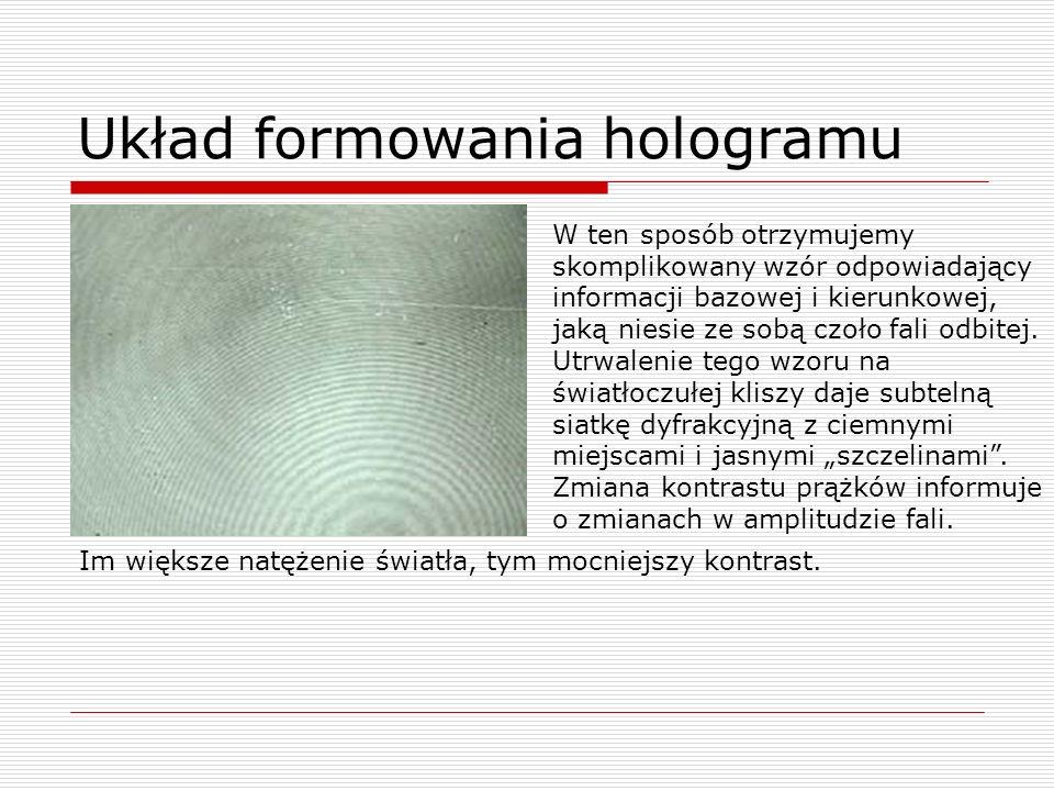 Układ formowania hologramu