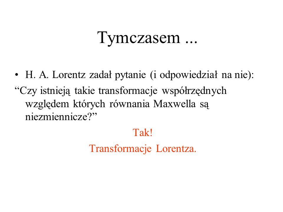 Transformacje Lorentza.