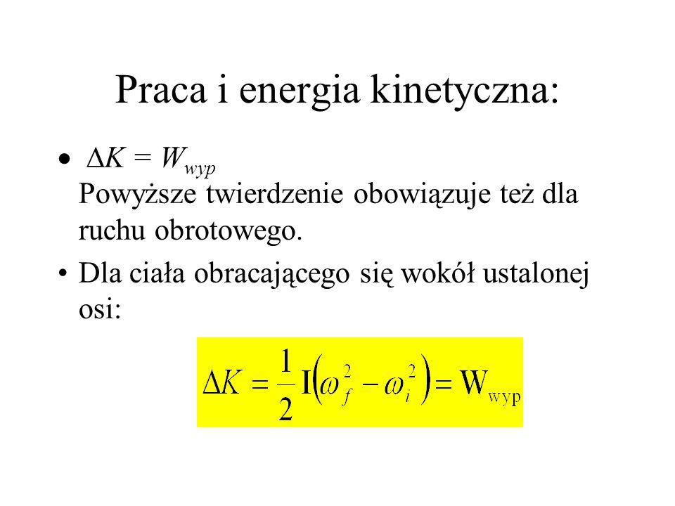 Praca i energia kinetyczna: