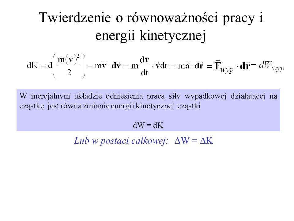 Twierdzenie o równoważności pracy i energii kinetycznej