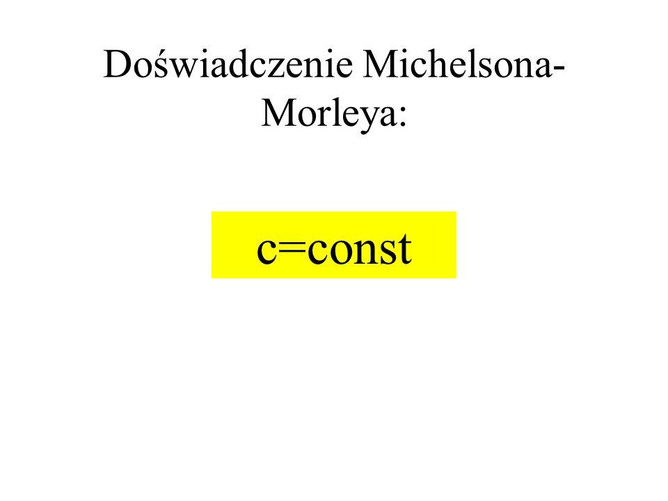 Doświadczenie Michelsona-Morleya: