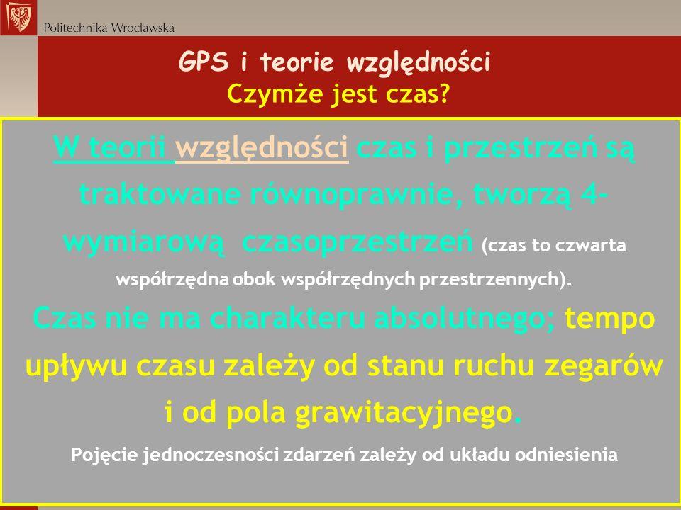 GPS i teorie względności Czymże jest czas