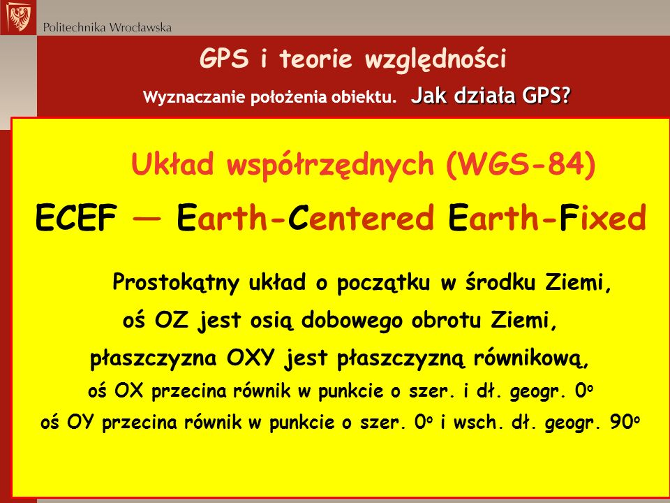 ECEF ― Earth-Centered Earth-Fixed