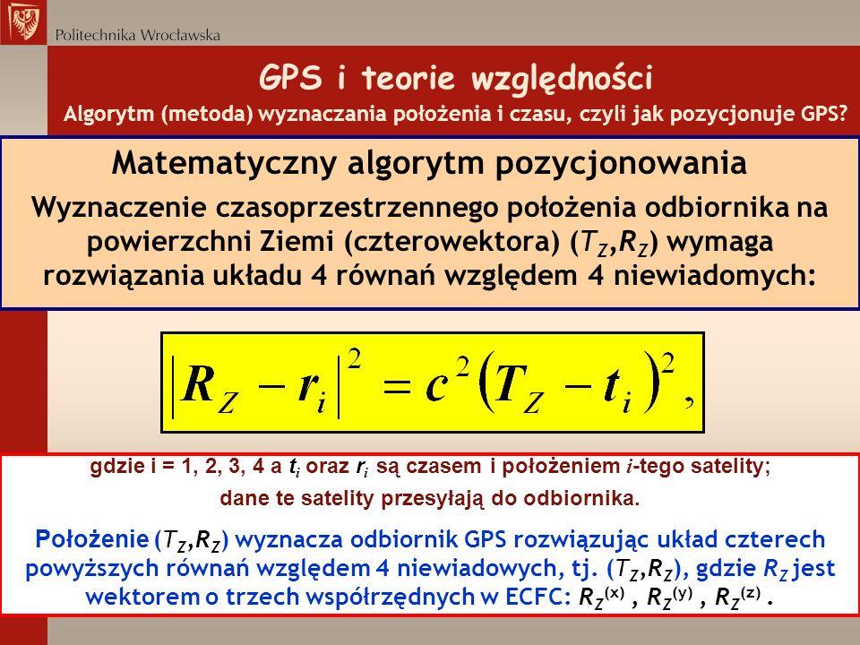 Matematyczny algorytm pozycjonowania