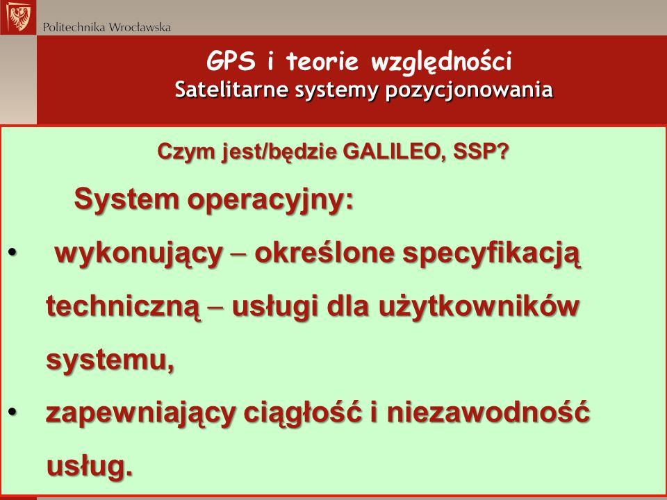 GPS i teorie względności Satelitarne systemy pozycjonowania