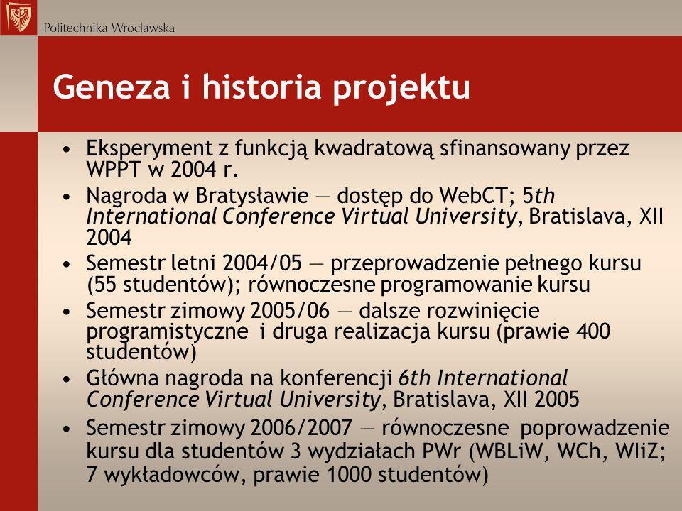 Geneza i historia projektu
