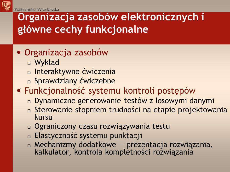 Organizacja zasobów elektronicznych i główne cechy funkcjonalne