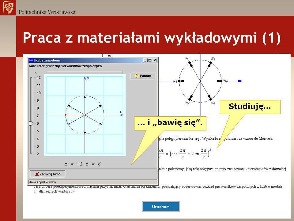 Praca z materiałami wykładowymi (1)
