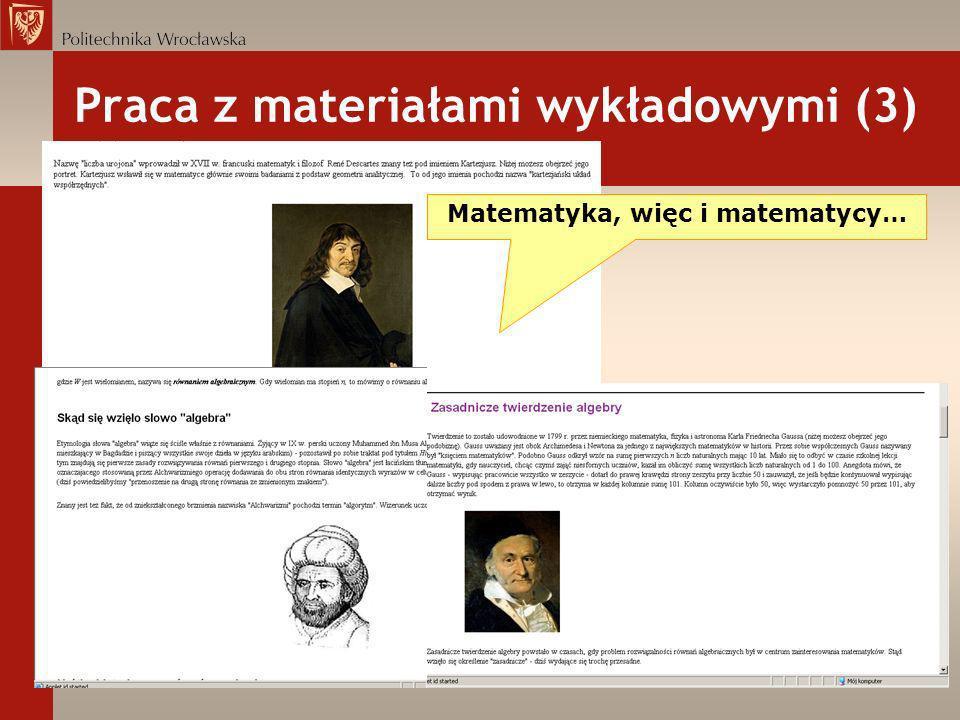 Praca z materiałami wykładowymi (3)