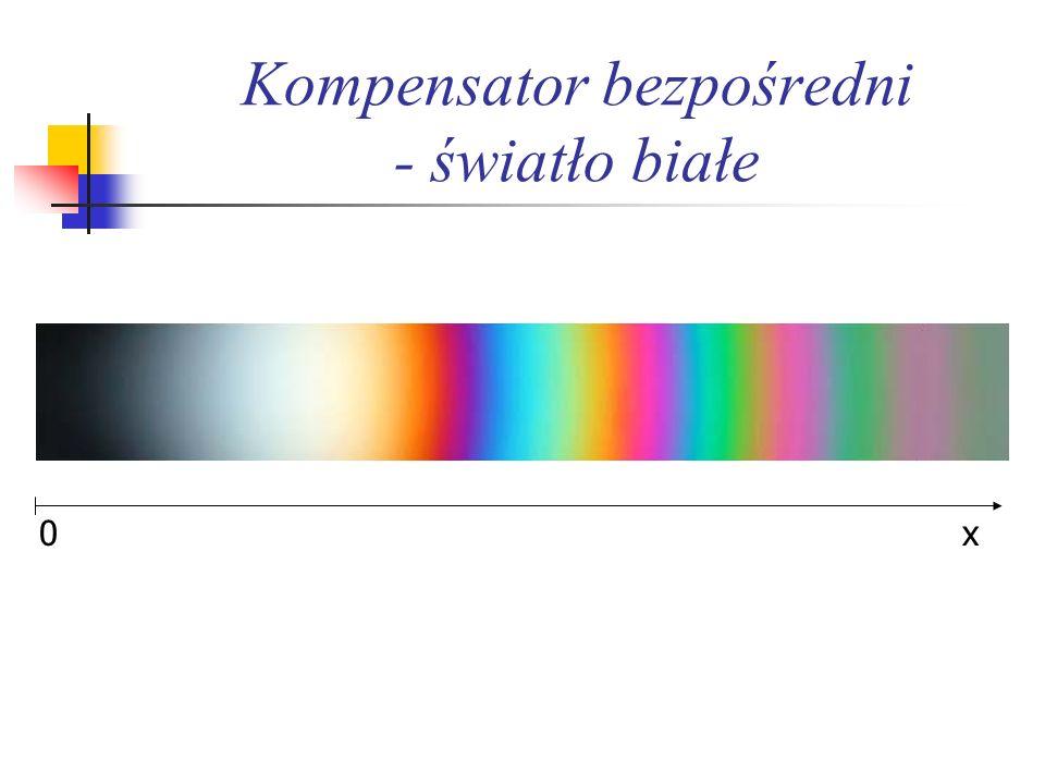 Kompensator bezpośredni - światło białe