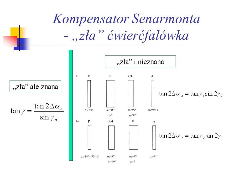 "Kompensator Senarmonta - ""zła ćwierćfalówka"