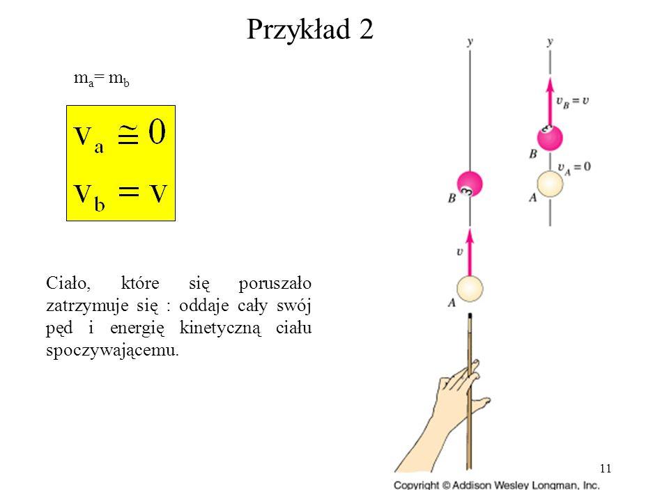 Przykład 2 ma= mb.