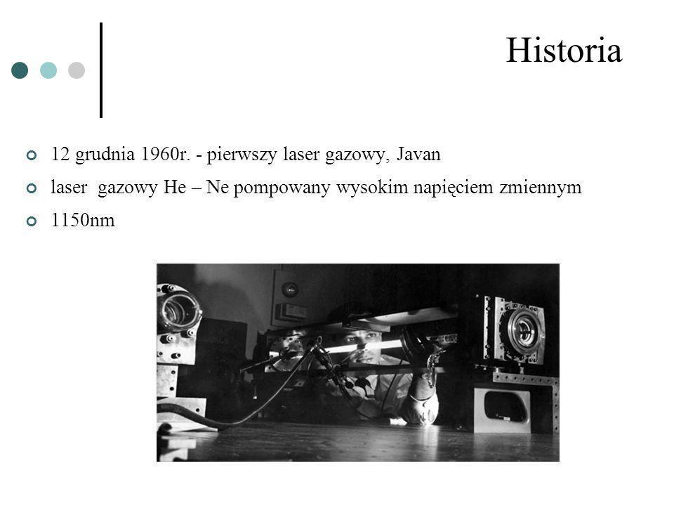 Historia 12 grudnia 1960r. - pierwszy laser gazowy, Javan