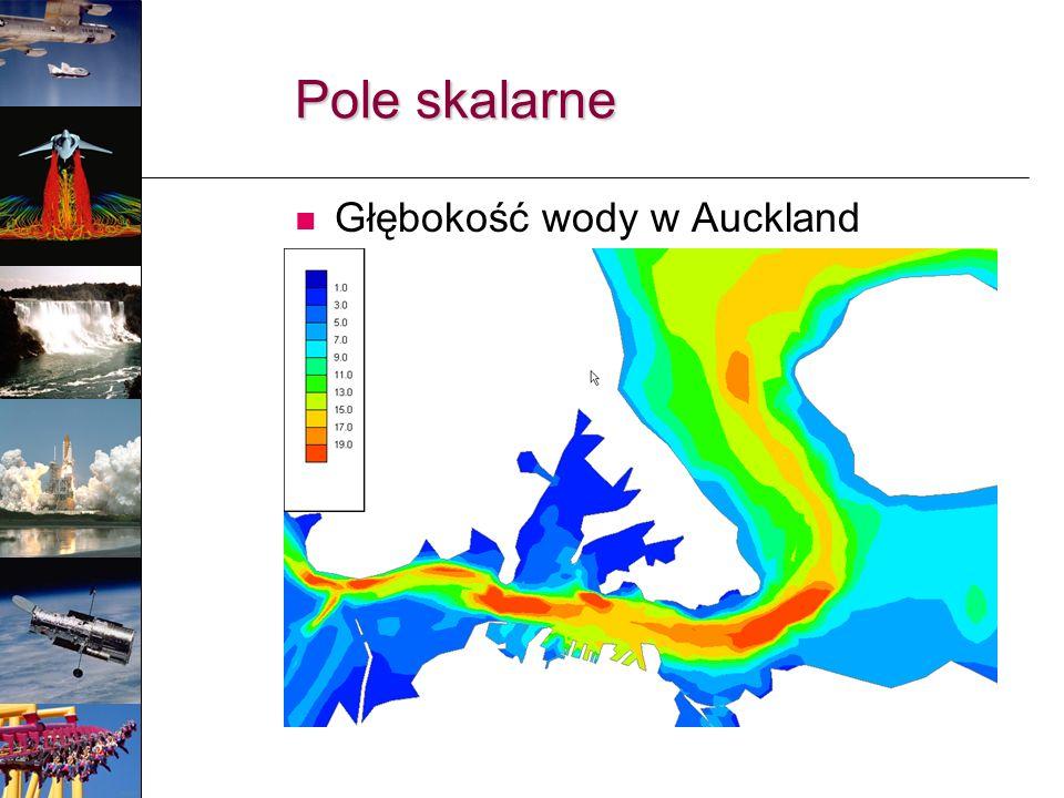 Pole skalarne Głębokość wody w Auckland Harbour