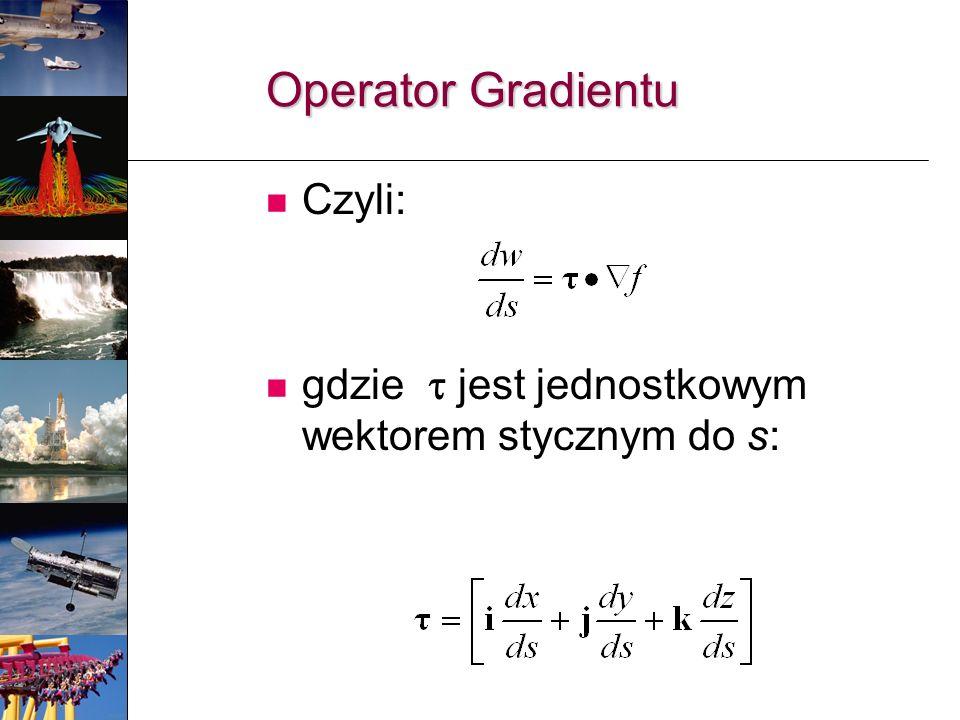 Operator Gradientu Czyli: