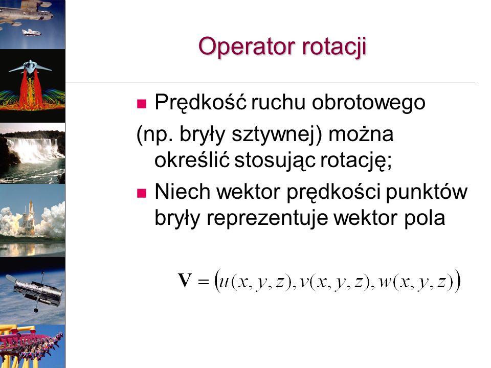 Operator rotacji Prędkość ruchu obrotowego