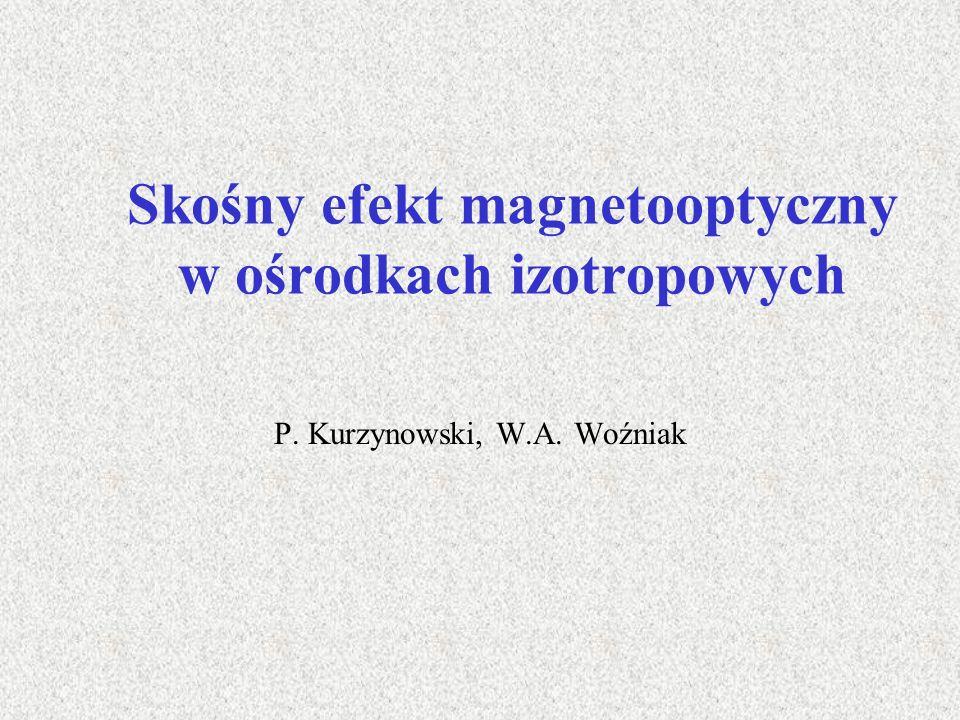 Skośny efekt magnetooptyczny w ośrodkach izotropowych