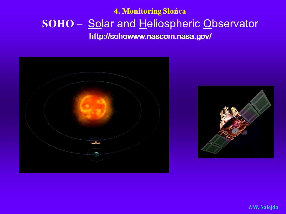 4. Monitoring Słońca SOHO – Solar and Heliospheric Observator http://sohowww.nascom.nasa.gov/