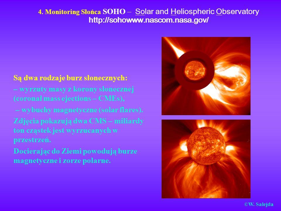 Są dwa rodzaje burz słonecznych: