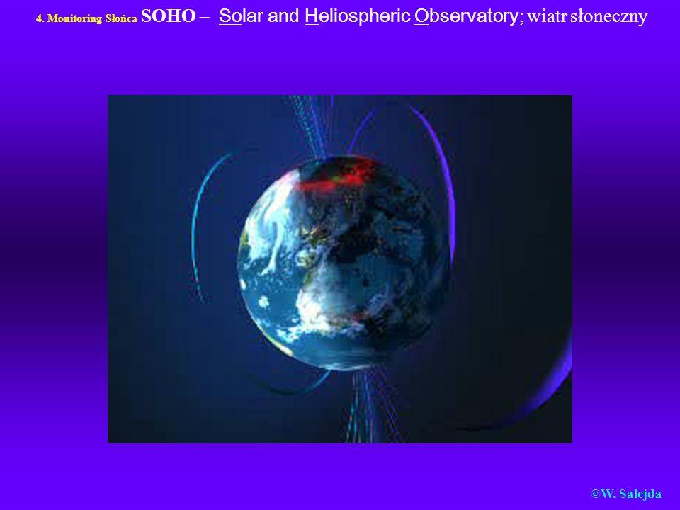 4. Monitoring Słońca SOHO – Solar and Heliospheric Observatory; wiatr słoneczny