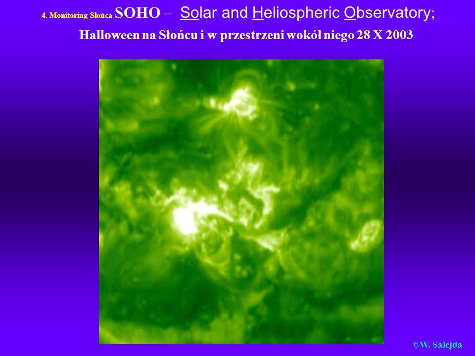 4. Monitoring Słońca SOHO – Solar and Heliospheric Observatory; Halloween na Słońcu i w przestrzeni wokół niego 28 X 2003