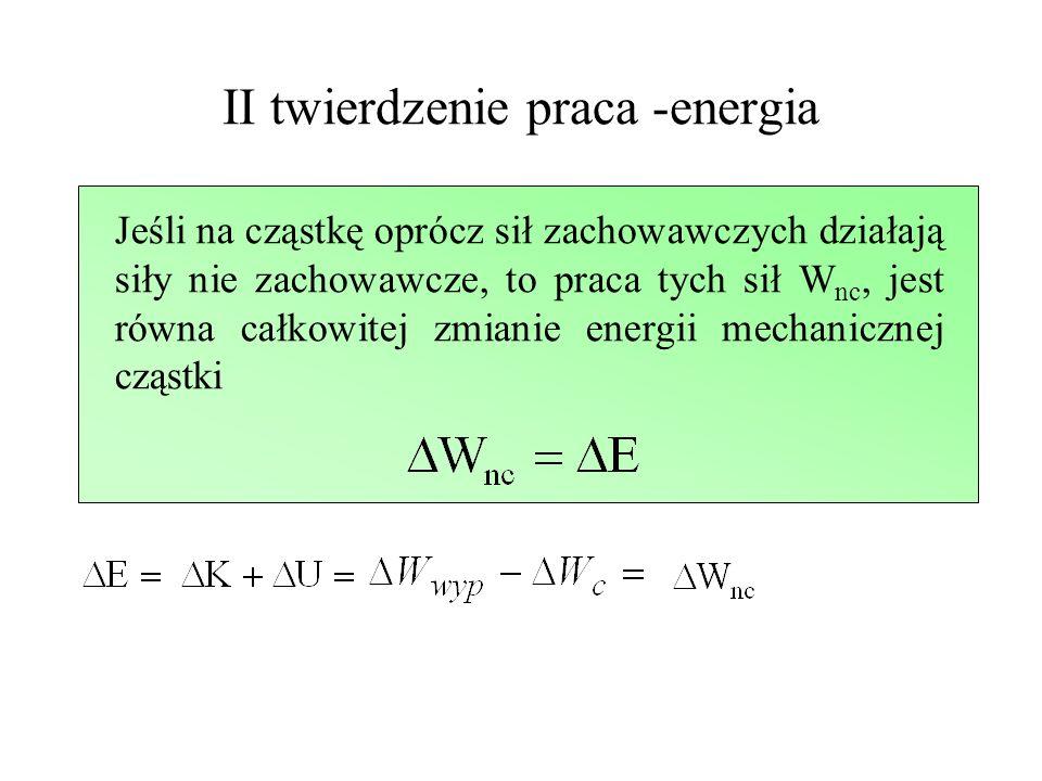 II twierdzenie praca -energia