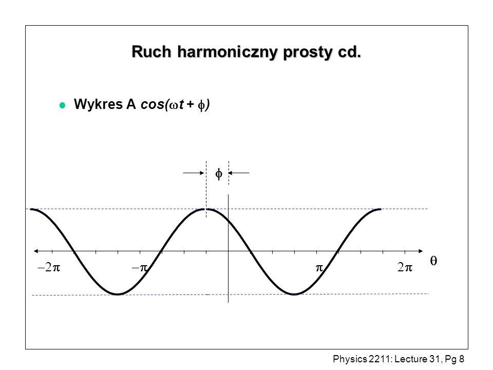 Ruch harmoniczny prosty cd.